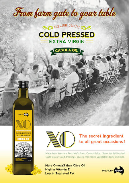 Health Farm XO Cold Pressed Extra Virgin Canola Oil