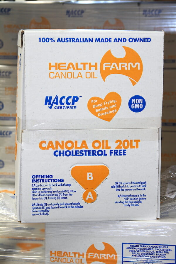 HealthFarm Canola Oil 20lt Box