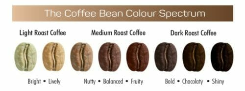 Coffee Bean Colour Spectrum
